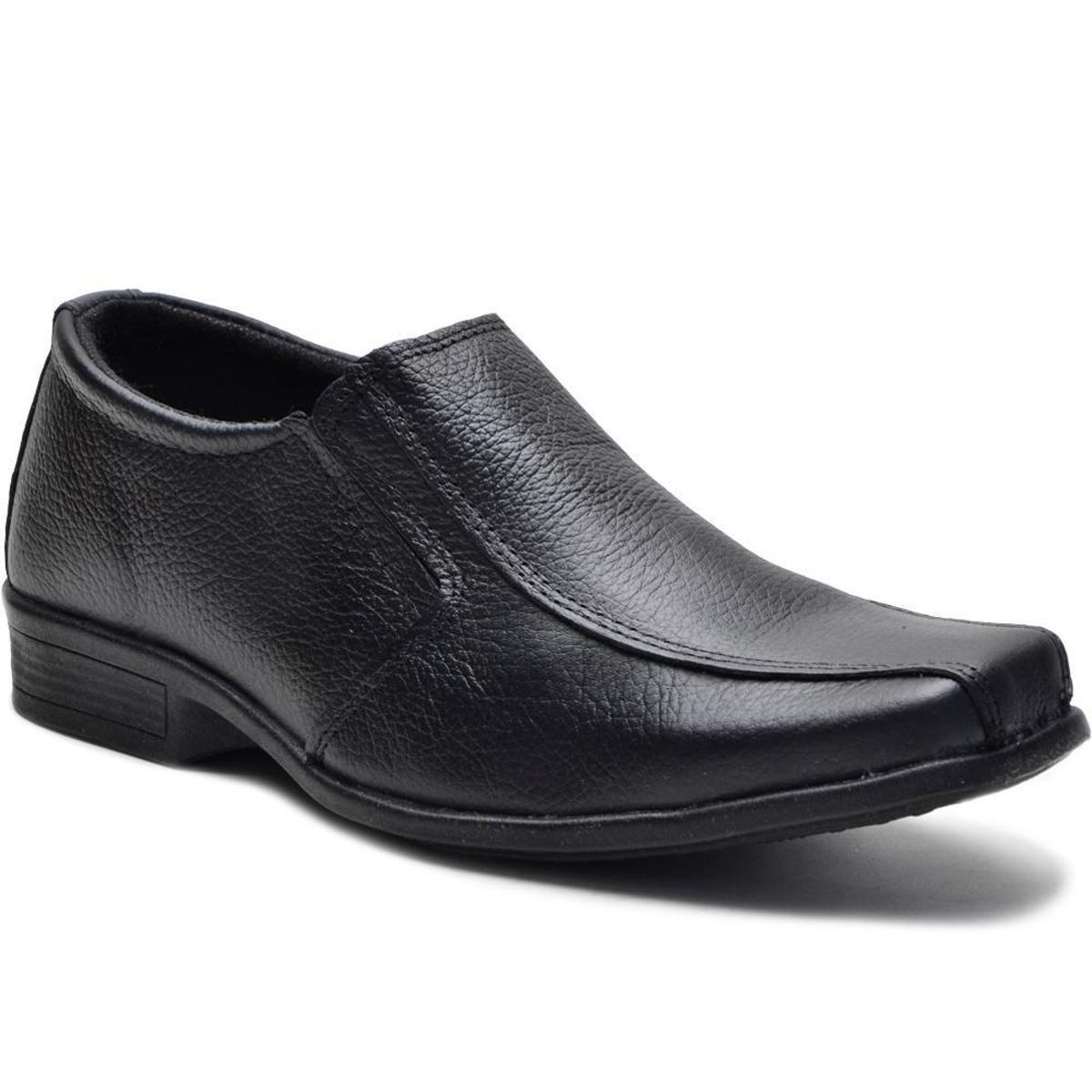 Preto Couro Shoes Sapato Sapato Conforto Masculino Fox Conforto nw6F7wpqSx