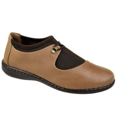Sapato Conforto Couro Opananken Feminino