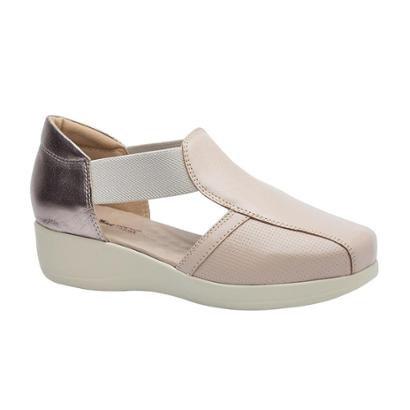 3baf1b4ac8 Sapato Conforto Couro OstraMetalic 7994 Doctor Shoes Feminino-Feminino