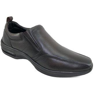 Sapato Conforto Couro Pipper Casual Masculino - Marrom - 42