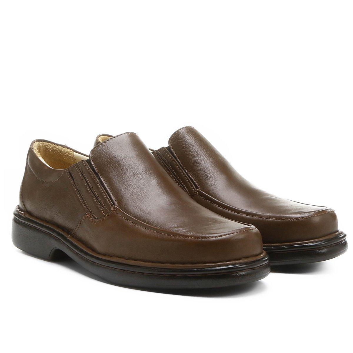 Pro Escuro Conforto Walkabout Sapato Marrom Sapato Conforto Couro PqgpnpOR