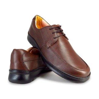 Sapato Conforto Masculino Com Cadarço