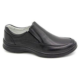 Sapato Conforto Preto Masculino 2711-01