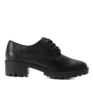 Sapato Couro Bottero Salto Médio Tratorado Feminino