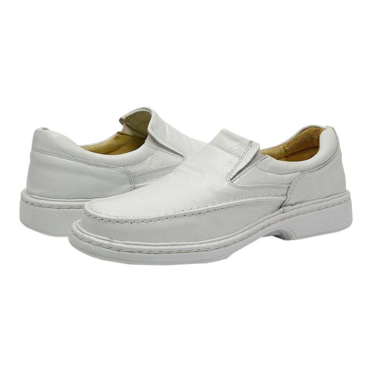G Conforto Sapato Way Masculino Sapato Couro Branco Couro HBIAzxqnv