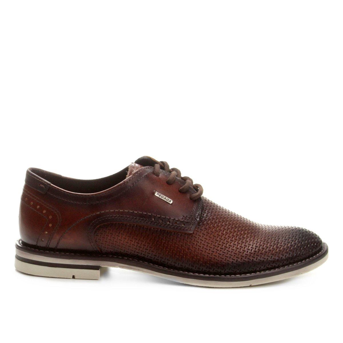 Marrom Couro Pegada Pegada Sapato Masculino Casual Sapato Couro q0dpSxtt