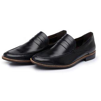 Sapato Couro Social Loafer Stefanello Bratva Várias Cores