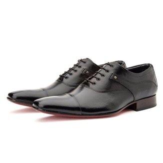 Sapato Couro Social Masculino De Amarrar