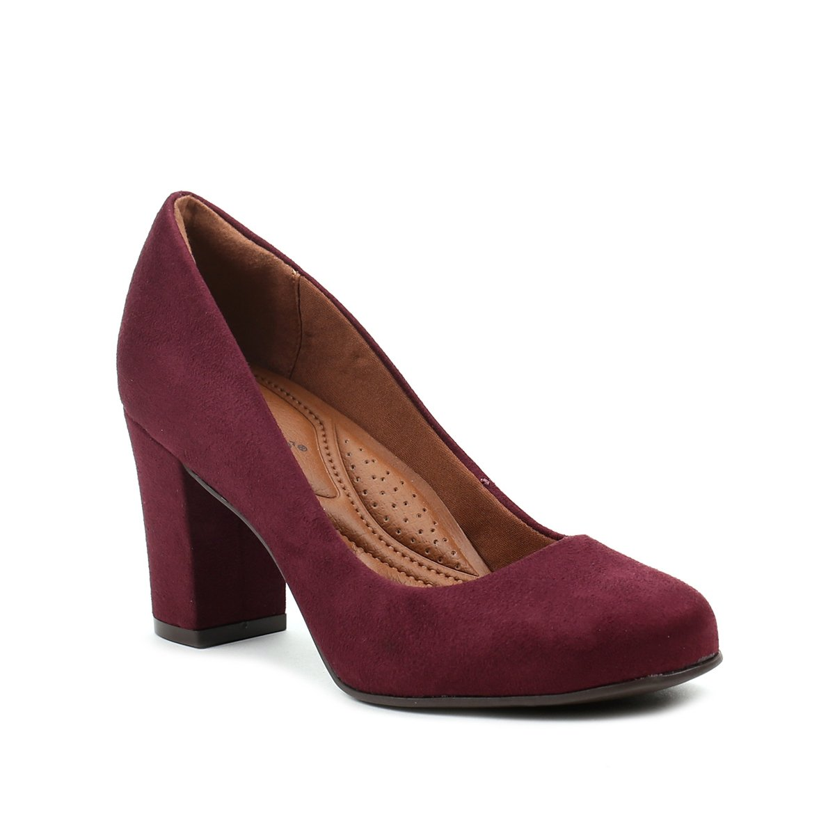 64048fbc0 Sapato de Salto Feminino Bebecê Bordô - Compre Agora