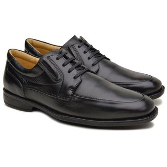 Sapato Derby Anatomic Gel Masculino Couro Dia a Dia Conforto
