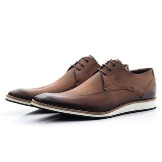 Sapato Derby Masculino Estonado De Amarrar