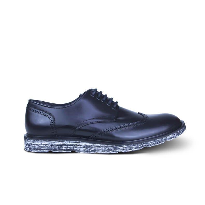 Oxford ALIUS Sapato Branco e Preto DIEM Couro Oxford Sapato DIEM PgBdqww