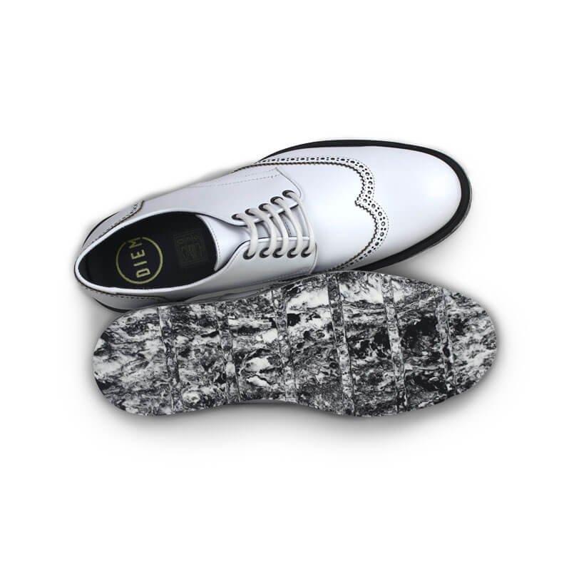 Oxford Branco e Sapato Preto Couro DIEM Oxford Sapato DIEM Couro ALIUS ALIUS pAYnqwSz