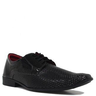 Sapato Eleganci Social Verniz Cadarço Masculino
