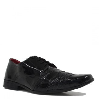 Sapato Eleganci Social Verniz Masculino