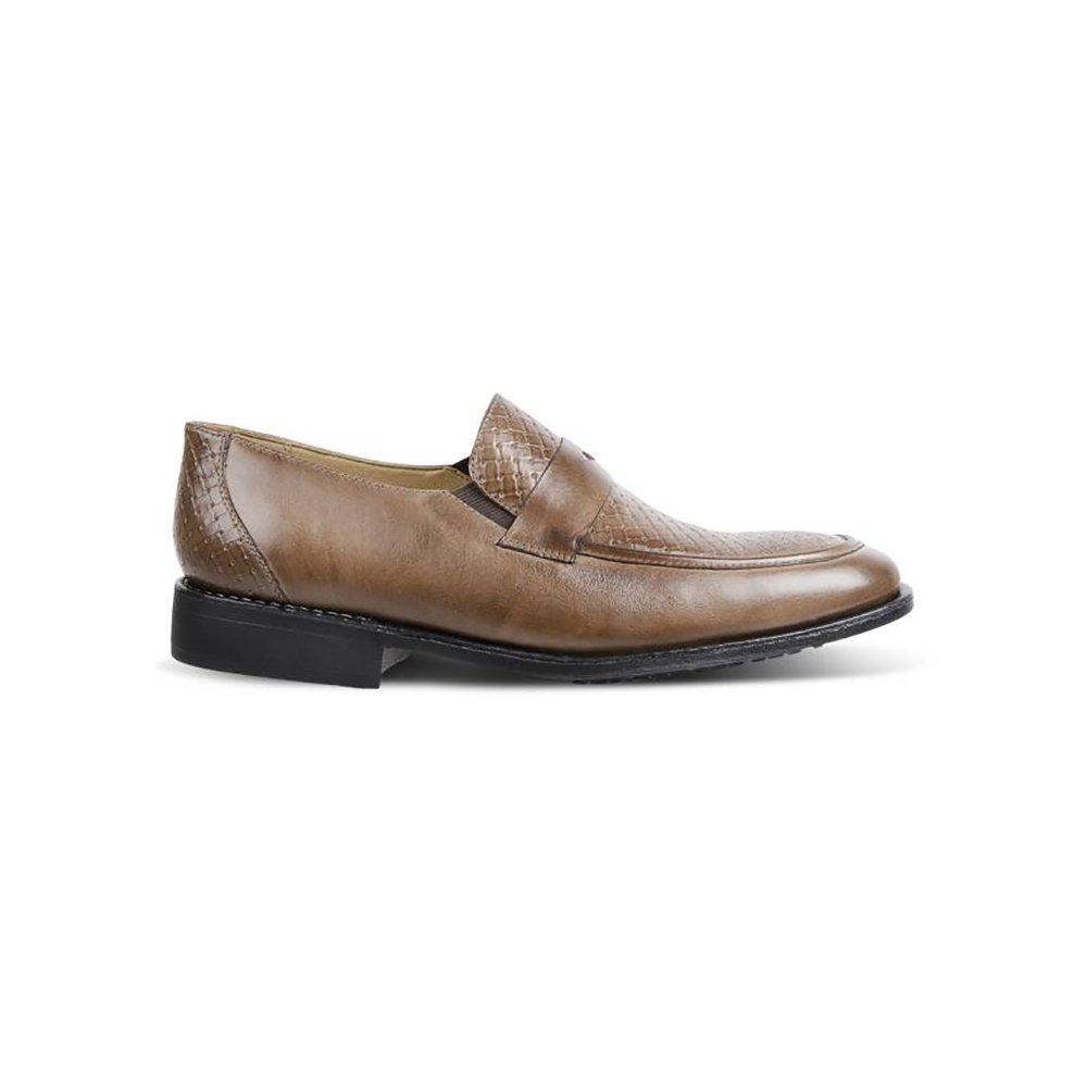 Sapato Em Couro Del Rio 220036 B - Marrom Claro