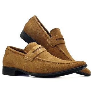 Sapato Esporte Fino Casual Conforto Masculino Camurça MOD 462