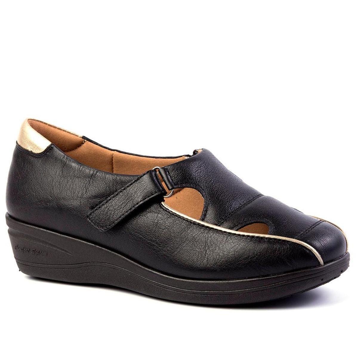 Sapato Couro Anabela Doctor em 185 Preto Sapato Feminino Shoes Feminino 15YSq0