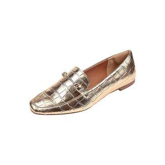 Sapato Feminino Mocassim Uzze Sapatos Croco