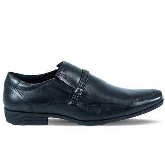 Sapato Ferracini Masculino Liverpool de Couro Preto e Fivela