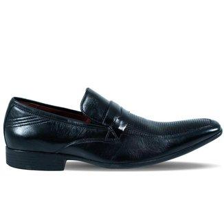Sapato Gofer Masculino New York em Couro Preto Envernizado