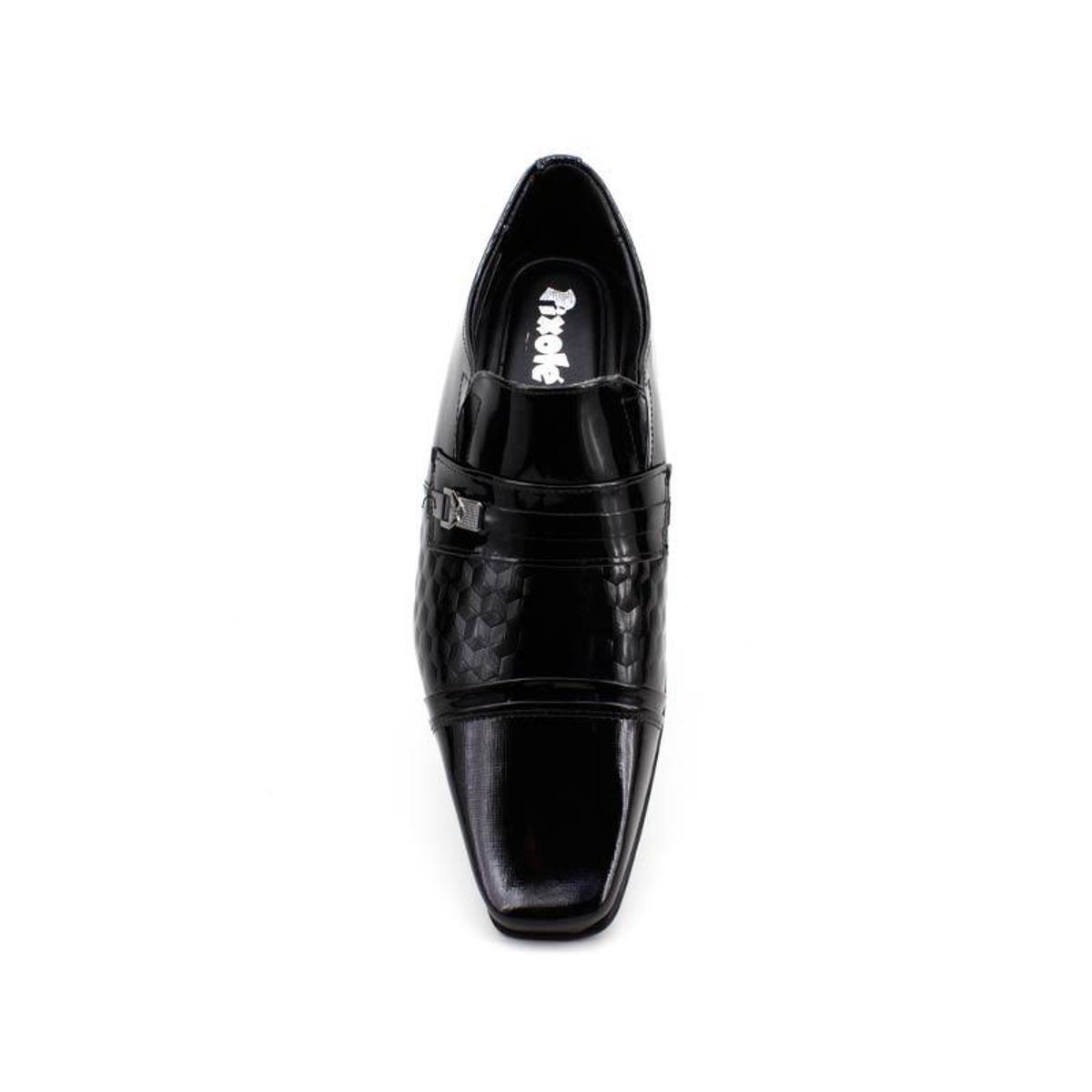 Sapato Jota Pê Air Fillipo Verniz Masculino - Preto