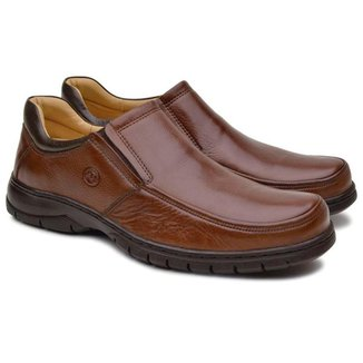 Sapato Loafer Anatomic Gel Masculino Couro Dia a Dia Estilo
