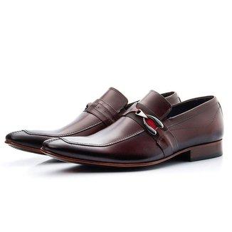 Sapato Loafer Com Gravata Em Couro Sola Couro Bigione Masculino
