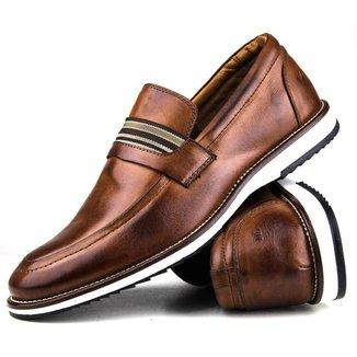 Sapato Loafer Couro Tchwm Shoes Masculino Conforto Brogue