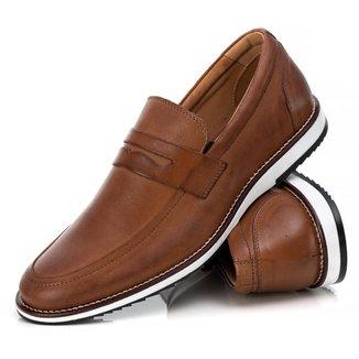 Sapato Loafer Couro Tchwm Shoes Masculino Moderno Brogue