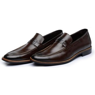 Sapato MAH BloodStone Loafer Com Gravata Couro Masculino