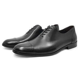 Sapato MAH Sinatra Social Couro Wholecut Oxford Sola de Couro Masculino