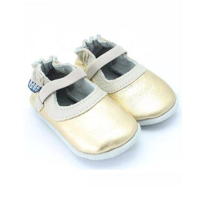 Sapato Mary Jane Feminino Bebê Ouro