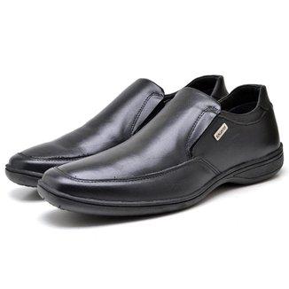 Sapato Masculino Confort Ortopedico Couro Premium Leve Verona K548
