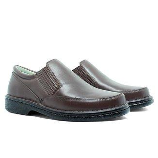 Sapato Masculino Conforto Em Couro CafE 310