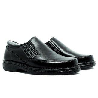 Sapato Masculino Conforto Em Couro Preto 310