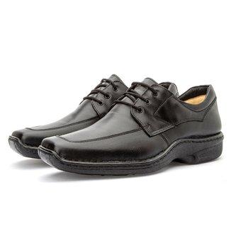 Sapato Masculino em Couro Macio Cadarço Moderno