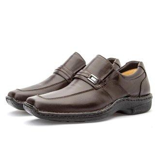 Sapato Masculino em Couro Macio Casual Conforto Leve