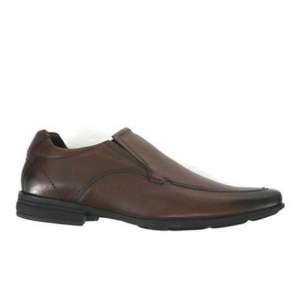 Sapato Masculino Ferracini Couro Social Sem Cadarço Marrom