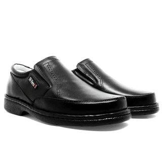 Sapato Masculino Linha Soft Confort Em Couro Preto 311