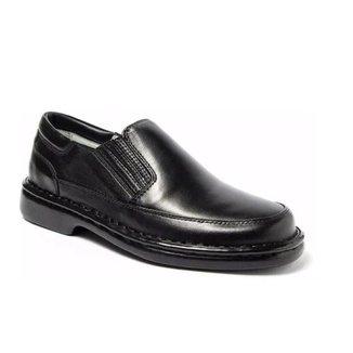 Sapato Masculino Ortopédico Anatômico Antistress Confort Couro