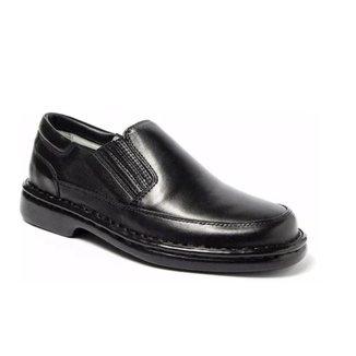 Sapato Masculino Ortopédico Antistress Anatômico Confort Couro