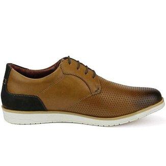 Sapato Masculino Oxford Marrom Em Couro Comfort 605