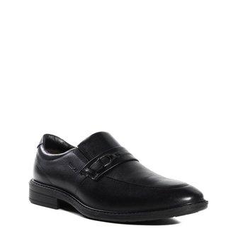 Sapato Masculino Slip On Ferracini Tóquio Couro Preto