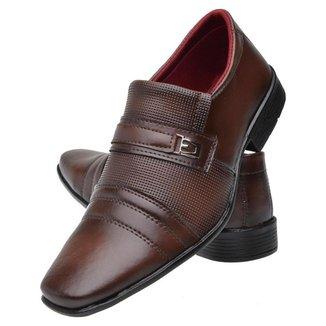 Sapato Masculino Social Bico Quadrado Sola De Borracha Fechamento Elástico