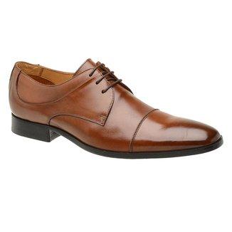 Sapato Masculino Social Malbork Couro Whisky Sola Couro 56002