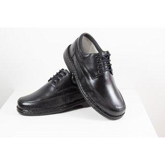 Sapato Masculino Social Ortopédico Anatômico Antistress Confort Couro