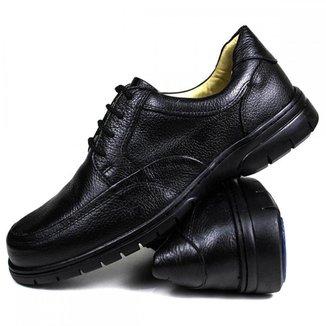 Sapato Masculino Social Ortopédico Confort Couro