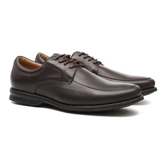 Sapato Masculino Social Samello Oxford Em Couro