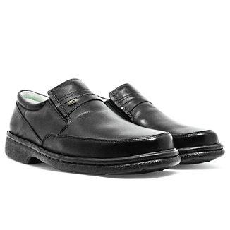 Sapato Masculino Soft Confort Em Couro Preto 313
